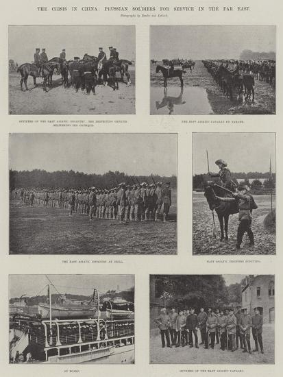 The Crisis in China, Prussian Soldiers for Service in the Far East--Giclee Print