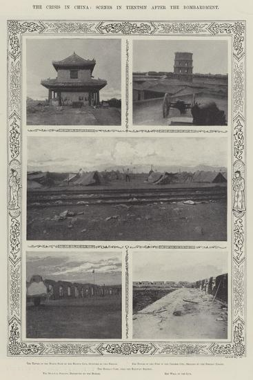 The Crisis in China, Scenes in Tientsin after the Bombardment--Giclee Print
