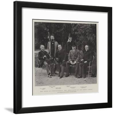 The Crisis in Constantinople, the Ambassadors of the Great Powers--Framed Giclee Print