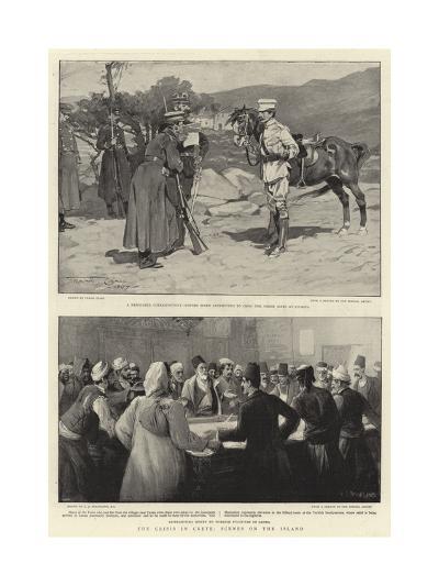 The Crisis in Crete, Scenes on the Island-Frank Craig-Giclee Print