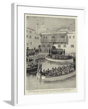 The Crisis in Crete, the Landing of British Marines at Canea-Joseph Nash-Framed Giclee Print