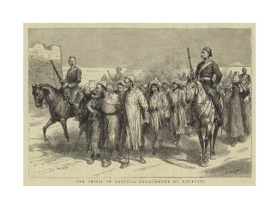 The Crisis in Egypt, a Detachment of Recruits-Godefroy Durand-Giclee Print