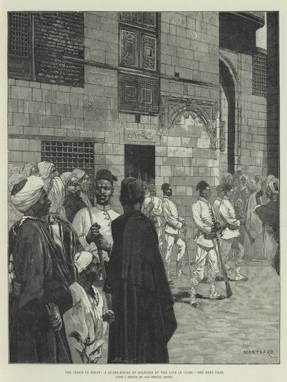 The Crisis in Egypt, a Guard-House of Soldiers of the Line in Cairo-Charles Auguste Loye-Giclee Print