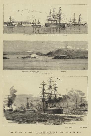 The Crisis in Egypt, the Anglo-French Fleet in Suda Bay--Giclee Print