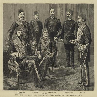 The Crisis in Egypt, the Khedive and Some Leaders of the National Party--Giclee Print