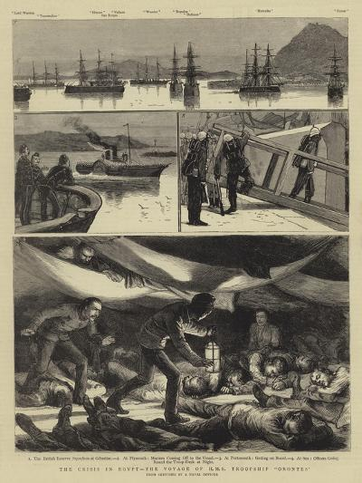 The Crisis in Egypt, the Voyage of HMS Troopship Orontes--Giclee Print