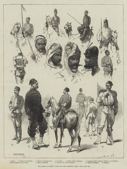 The Crisis in Egypt, Types of the Egyptian Army-Charles Auguste Loye-Giclee Print
