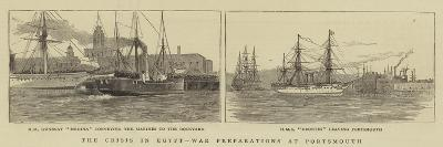 The Crisis in Egypt, War Preparations at Portsmouth-William Edward Atkins-Giclee Print
