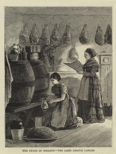 The Crisis in Ireland, the Land League Larder--Giclee Print