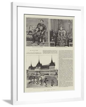 The Crisis in Siam--Framed Giclee Print