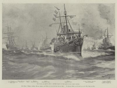 The Crisis in South Africa, British Fleet on the Cape of Good Hope Station-Fred T. Jane-Giclee Print