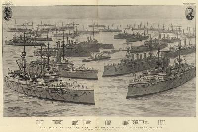The Crisis in the Far East, the British Fleet in Chinese Waters-Joseph Nash-Giclee Print