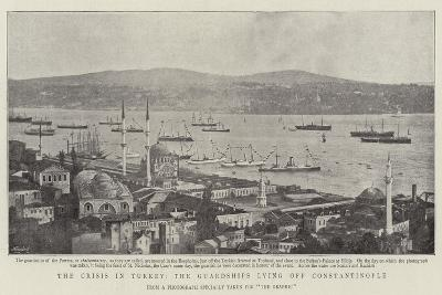 The Crisis in Turkey, the Guardships Lying Off Constantinople--Giclee Print