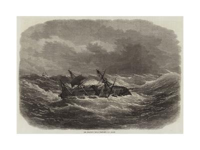 The Crocodile Indian Troop-Ship in a Storm-Edwin Weedon-Giclee Print