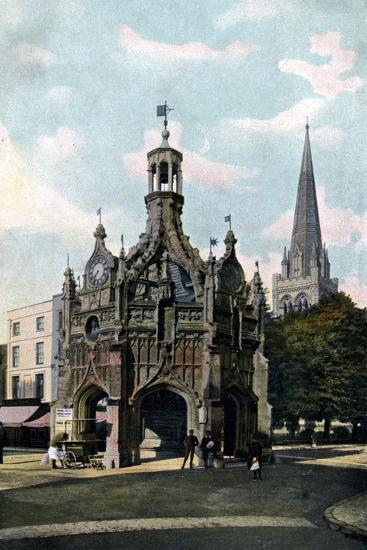 The Cross and Cathedral, Chichester, West Sussex, Early 20th Century--Giclee Print