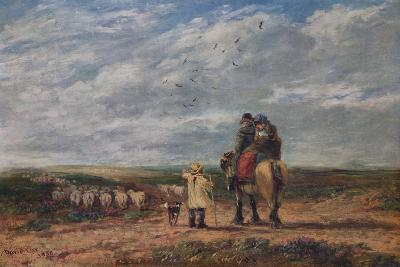The Cross Road, 1850-David Cox the elder-Giclee Print