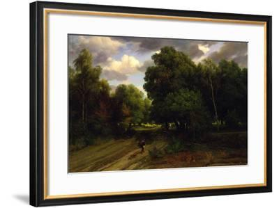 The Crossroads of the Eagle's Nest, Fontainebleau Forest, 1843-44-Charles Francois Daubigny-Framed Giclee Print