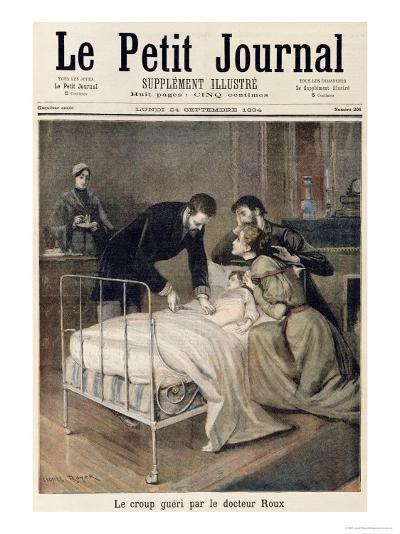 """The Croup Cured by Doctor Roux, Illustration from """"Le Petit Journal"""", 24th September 1894-Lionel Royer-Giclee Print"""
