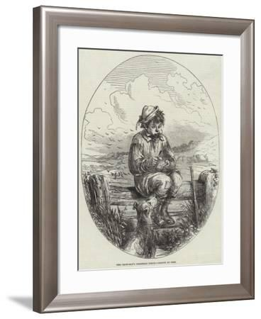 The Crow-Boy's Christmas Lunch-Hablot Knight Browne-Framed Giclee Print