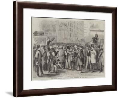 The Crowd at Baltimore Waiting for Mr Lincoln, President of the United States-Thomas Nast-Framed Giclee Print