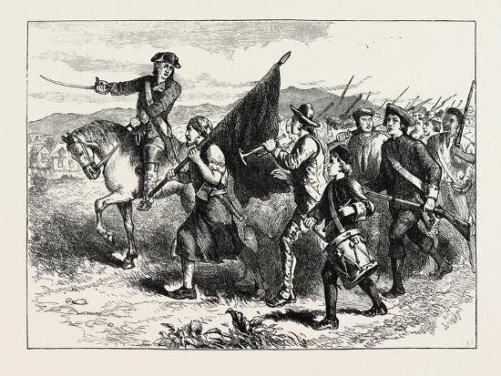 The Crowd at Springfield with the Black Flag, USA, 1870s--Giclee Print