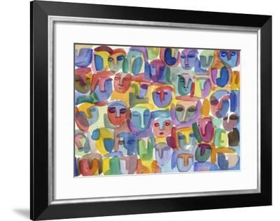 The Crowd-Diana Ong-Framed Giclee Print