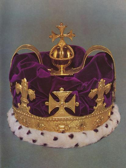 'The crown made for the Prince of Wales in 1729', 1953-Unknown-Photographic Print