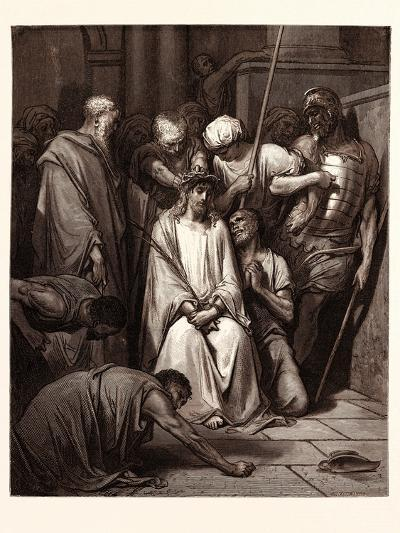 The Crown of Thorns-Gustave Dore-Giclee Print