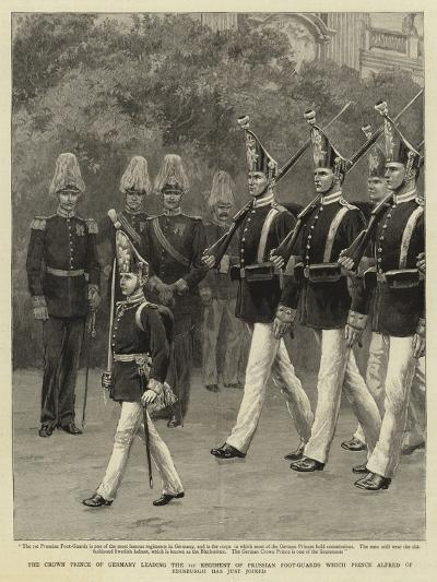 The Crown Prince of Germany Leading the 1st Regiment of Prussian Foot-Guards Which Prince Alfred of--Giclee Print