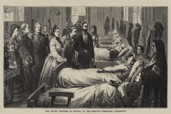 The Crown Princess of Prussia at the Hospital Barracks, Frankfort--Giclee Print