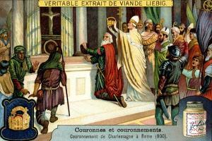 The Crowning of Charlemagne in Rome 800
