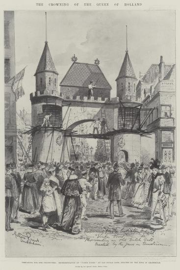 The Crowning of the Queen of Holland-Melton Prior-Giclee Print