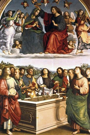 The Crowning of the Virgin (Oddi Alta), 1502-1503-Raphael-Giclee Print
