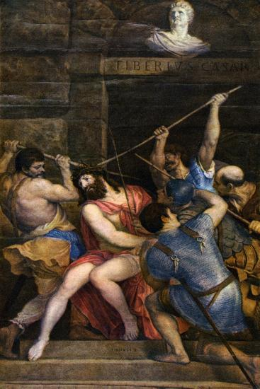 The Crowning with Thorns, C1542-Titian (Tiziano Vecelli)-Giclee Print