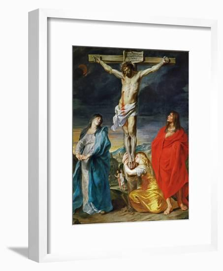 The Crucified Christ with the Virgin Mary, Saints John the Baptist and Mary Magdalene-Sir Anthony Van Dyck-Framed Giclee Print