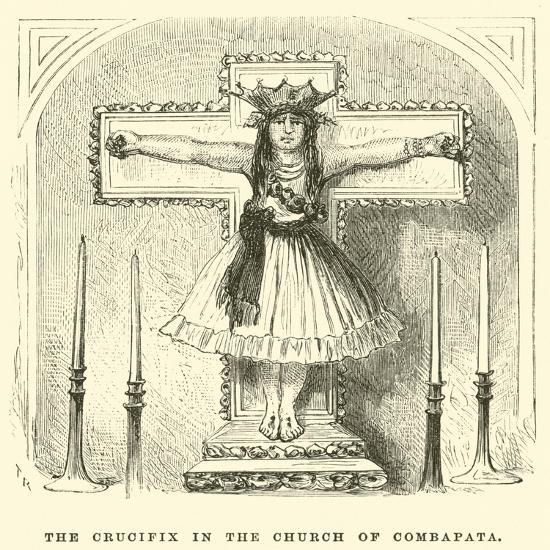 The Crucifix in the Church of Combapata-?douard Riou-Giclee Print