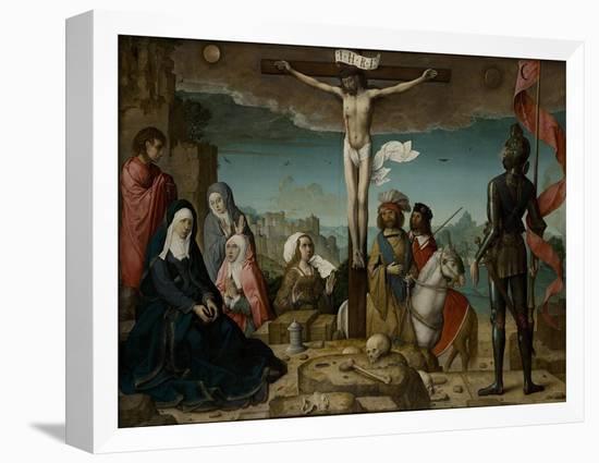 The Crucifixion, 1509-Juan de Flandes-Framed Stretched Canvas Print