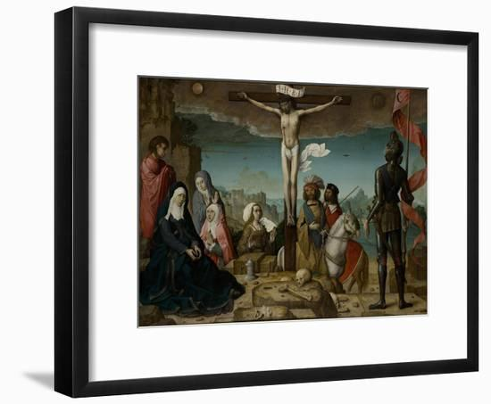 The Crucifixion, 1509-Juan de Flandes-Framed Giclee Print