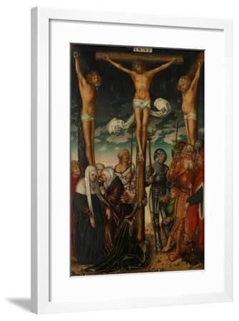 The Crucifixion, C.1575-Lucas the Elder Cranach-Framed Giclee Print