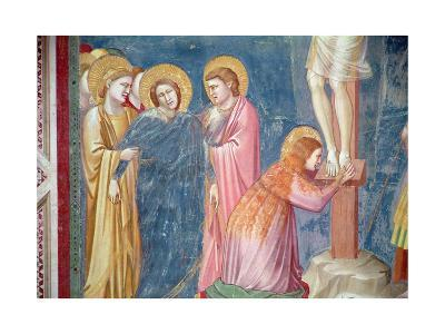 The Crucifixion, Detail of Mary Magdalene and the Virgin Between St. John and a Female Saint,…-Giotto di Bondone-Giclee Print