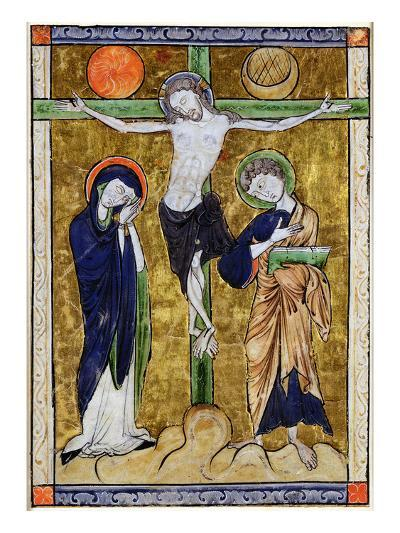 The Crucifixion, from a Psalter, C.1215 (Vellum)-French-Giclee Print