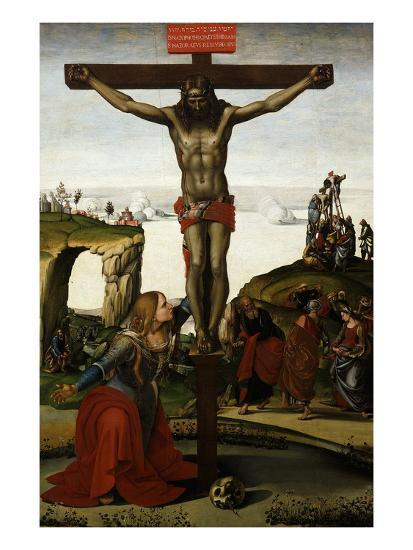 The Crucifixion with Mary Magdalene, C.1500-05-Luca Signorelli-Giclee Print
