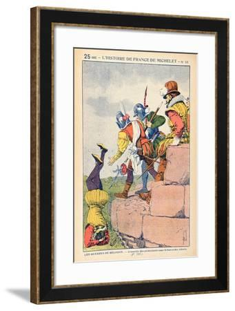 The Cruelty of Protestants under the Baron Des Adrets in the 16th Century-Louis Bombled-Framed Giclee Print
