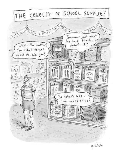 The Cruelty of School Supplies - New Yorker Cartoon-Roz Chast-Premium Giclee Print