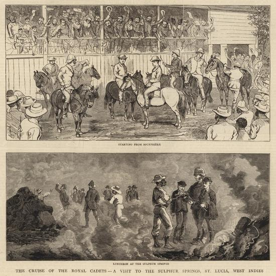 The Cruise of the Royal Cadets, a Visit to the Sulphur Springs, St Lucia, West Indies--Giclee Print