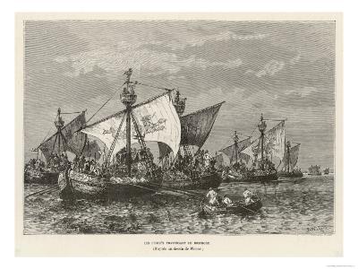 The Crusaders Cross the Bosphorus--Giclee Print