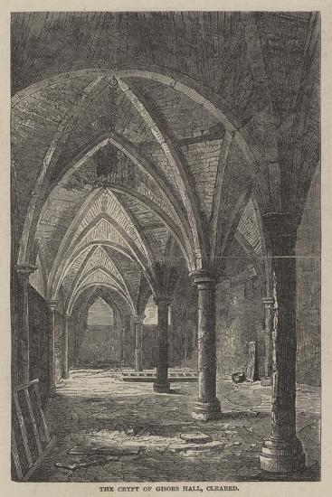 The Crypt of Gisors Hall, Cleared--Giclee Print