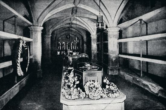 The crypt under the chancel of St George's Chapel, Windsor Castle, 1910 (1911)-Unknown-Photographic Print