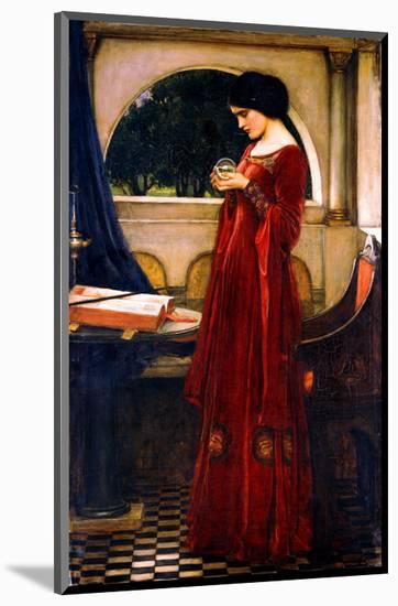 The Crystal Ball, 1902-John William Waterhouse-Mounted Premium Giclee Print