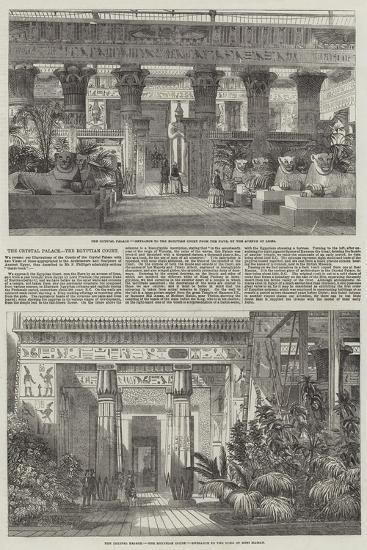 The Crystal Palace, the Egyptian Court--Giclee Print